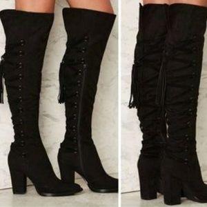 Nasty Gal lace up heel